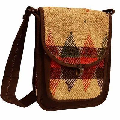 کیف جاجیمی دوشی کرم