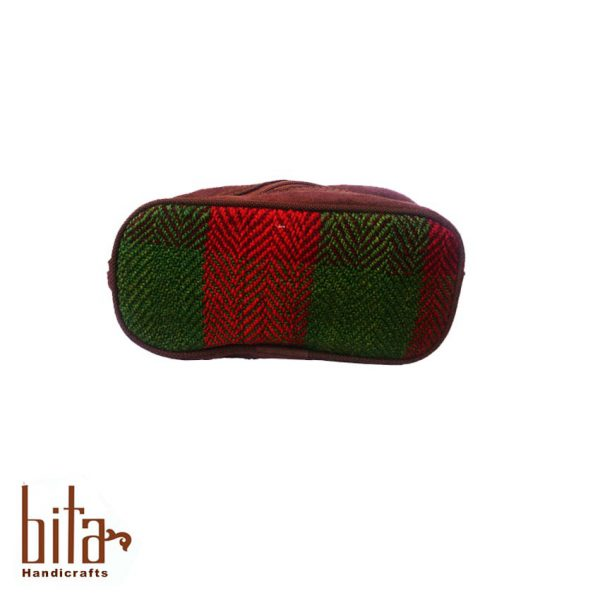 کیف آرایش جاجیمی سبز