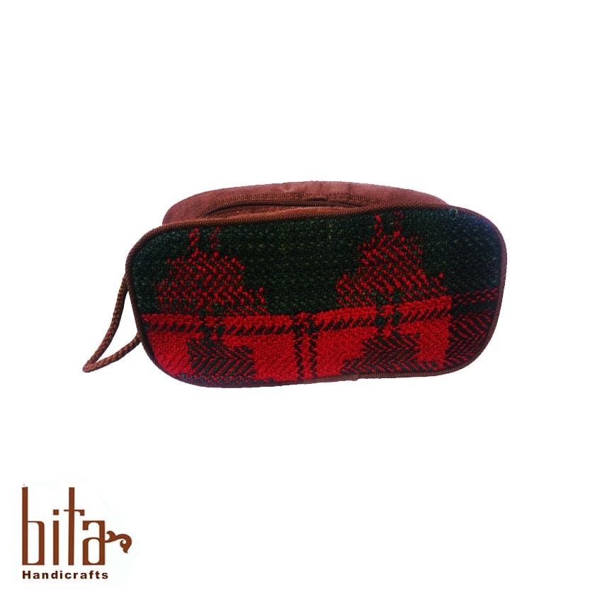 کیف آرایش جاجیم دو رنگ