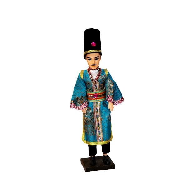 عروسک سنتی مرد لباس آبی
