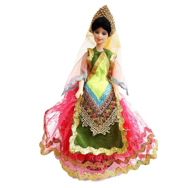 عروسک سنتی دامن صورتی