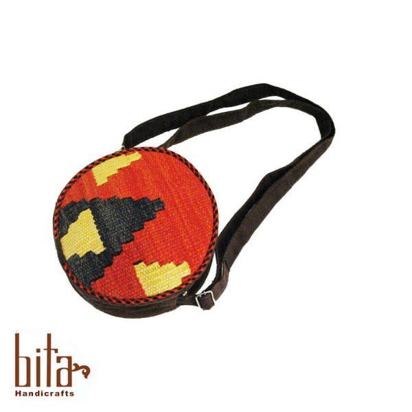 کیف گلیم گرد کوچک سه رنگ