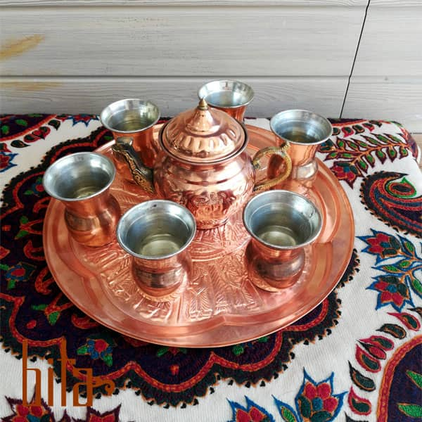 سرویس چایخوری مس