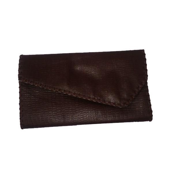 کیف پول لب کج چرم بزی