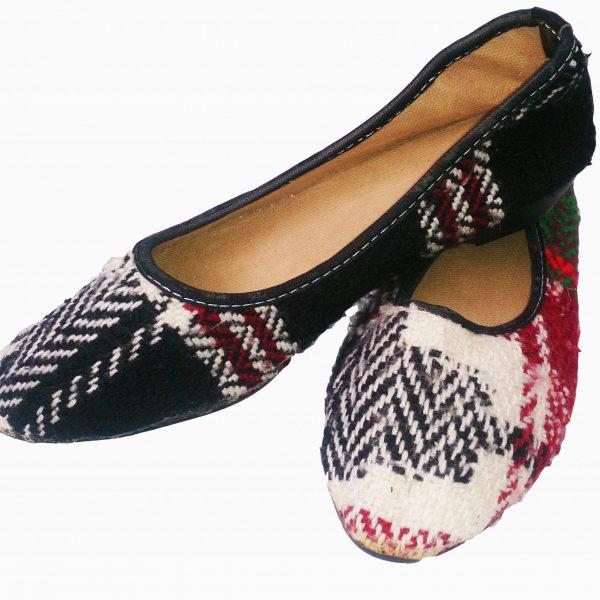 کفش جاجیمی سیاه و سفید