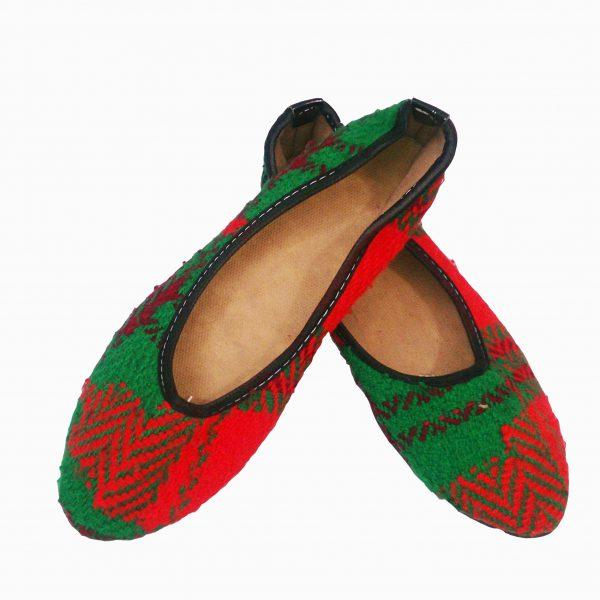 کفش جاجیمی سه رنگ