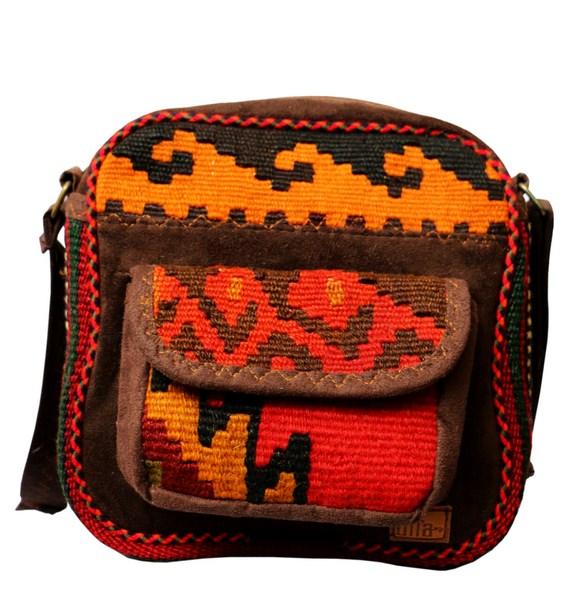 کیف گلیمی مربع جیب رو