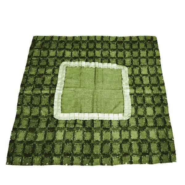 رومیزی مربع دو رنگ