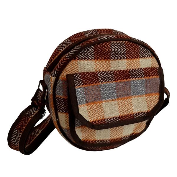 کیف دوشی جاجیمی گرد کرم